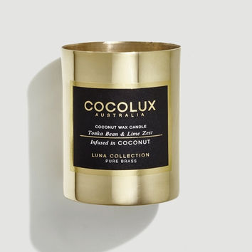 COCOLUX Tonka Bean & Lime Zest Candle, 150g