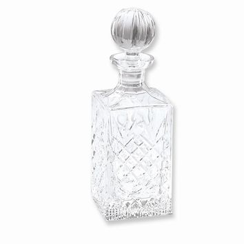 Crystal 24oz. Engraveable Square Decanter - Etching Personalized Gift Item