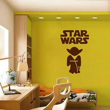 ik2719 Wall Decal Sticker Yoda Star Wars character nursery teenager