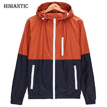 Men's Spring jacket Outwear Sportswear Fit hooded coat thin jacket men blazer jacket men military home