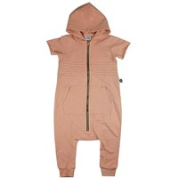 HOODED ROMPER - SANDY ROSE