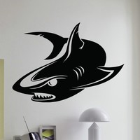 Wall Decal Vinyl Sticker Animal Predator Shark Sea Ocean Decor Sb470