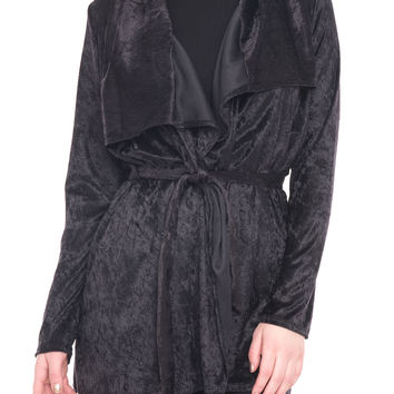 LONG SLEEVE TIE FRONT DUSTER
