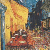 Cafe Terrace at Night European Cushion Covers