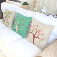 Tree in Seasons Decorative Pillow Case