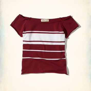 Girls Stripe Off-The-Shoulder Top | Girls New Arrivals | HollisterCo.com
