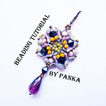 ON SALE Beading earring tutorial. Beading pattern. How make to jewelry tutorial. Pdf file, pfd instruction. Beading instruction.