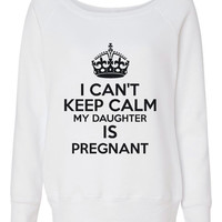 Can't Keep Calm Daughter's Pregnant Great Sweatshirt for Grandma to Be Grandma Shirt Mothers Day Sweatshirt Twins baby expecting Moms