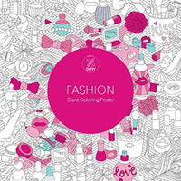 Fashion: Giant Coloring Poster