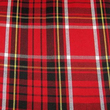 """Ralph Lauren Tartan Plaid Tablecloth 60"""" x 104""""  Red / Black / Yellow / White New in Package"""