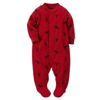 Carter's Reindeer Microfleece Sleep & Play - Baby Boy, Size: