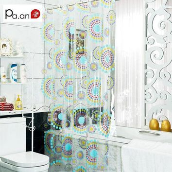 ICIK272 New Arrival Transparent Pvc Bathroom Shower Curtain  Endless Printed Waterproof Moldproof Curtains Home Products Free Shipping