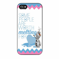 Olaf Quote Melting The Disney Frozen Pink Blue Chevron iPhone 5s Case