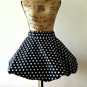 Polka  - dot - pinup - rockabilly - full circle skirt