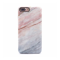 Marble Case for iPhone 8 Plus / 7 Plus - Smoked Coral