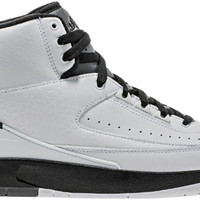 Air Jordan Retro 2 Mens Lifestyle Shoe (White/Black/Dark Grey)