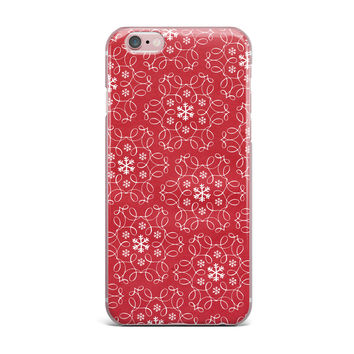 "Heidi Jennings ""Christmas Spirit"" Red iPhone Case"