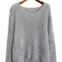 Fluffy Waffle Jumper in Grey - New Arrivals - Retro, Indie and Unique Fashion