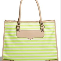 Rebecca Minkoff 'Striped Diamond' Canvas Tote | Nordstrom