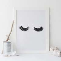 Printable art;EYELASHES print,eyelashes art,eyelashes decor,printable art,makeup print,makeup decor,lashes print,lashes art,beauty salon