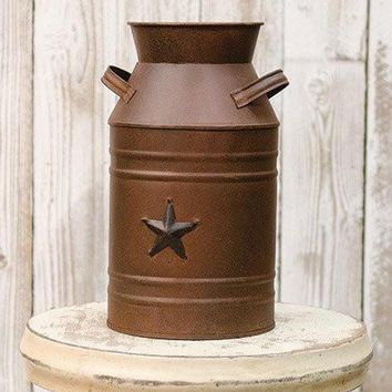 Rusty Milk Can w/Black Embossed Star Day-First™
