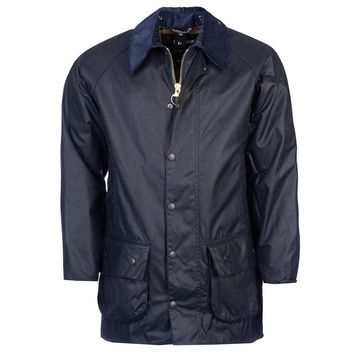 Beaufort Waxed Jacket in Navy by Barbour