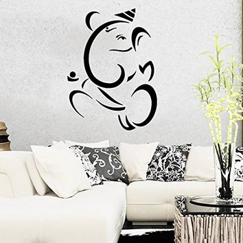 Wall Decal Vinyl Sticker Decals Home Decor Ganesh Hindu Indian God Ganesha Buddha Namaste Yoga Mandala Om Lotus Art Bedroom (6154)