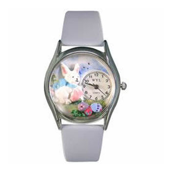 Whimsical Watches Hand Crafted Holiday Gifts Easter Eggs Watch Small Silver Style