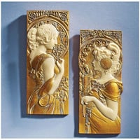 Park Avenue Collection S/ Spring & Autumn Mucha Plaques