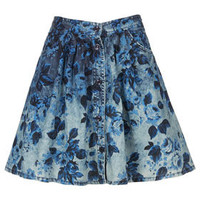 MOTO Denim Floral Flippy Skirt - New In This Week  - New In