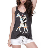 Riot Society Tribal Panda Giraffe Tank at PacSun.com