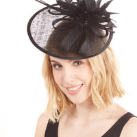 ModCloth Vintage Inspired Tilt the End of Time Fascinator in Noir