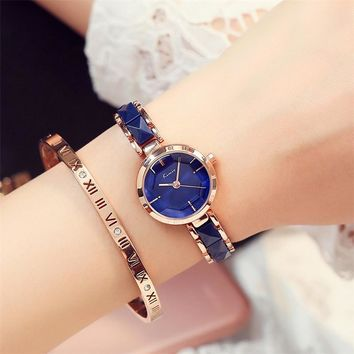 KIMIO 2017 Brand Imitation Ceramic Gold Watches Women Fashion Watch Luxury Quartz-watch Wristwatches Women's Watches For Women