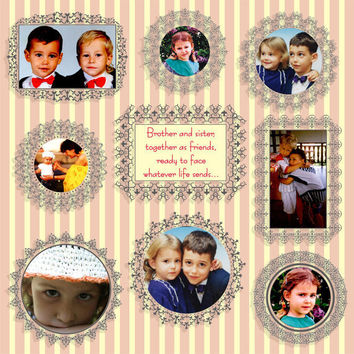Digital Photo Frames - Borders - PNG and JPG format - Scrapbooking