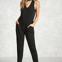 Choker Neck Cutout Jumpsuit
