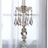 Icicle Crystal Candle Holders Vintage Crystal Candle Holders Crystal Taper Candle Holders Acrylic Crystal Candle Holders Bling Candle Holder