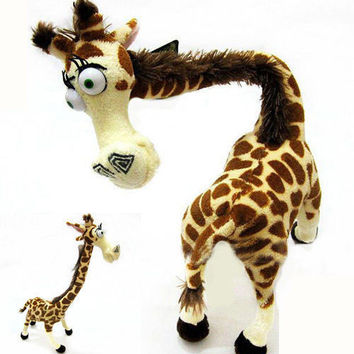"Cute Madagascar Giraffe Melman Stuffed Toy Plush Doll 14"" Baby Children TW09"