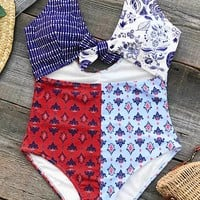 Cupshe Colorful Girl Print One-piece Swimsuit