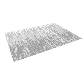 "Frederic Levy-Hadida ""Drops"" Gray Indoor / Outdoor Floor Mat"