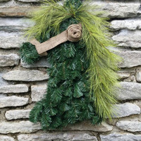 Horse Wreath Horse Decor Kentucky Derby Decor Breeders Cup Horse Head Wreath Horse Christmas Decor Pine Wreath Western Wreath Country Decor