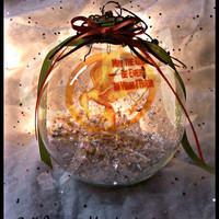 Limited Edition Hunger Games Themed Jumbo Glass Christmas Ornament