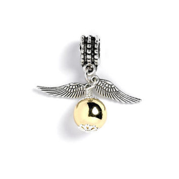 Harry Potter Golden Snitch Charm Bead - HP001