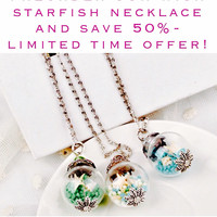 PRE-ORDER for 50% OFF: Lovely Handmade Beach Inspired What's Your Starfish Wish Pendant Necklace