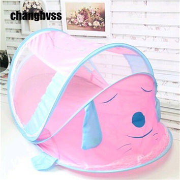 Portable Baby Tent Crib - Puppy - Pink or Blue