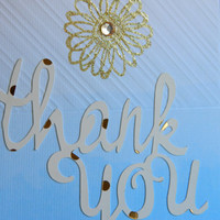 Thank you card - Blank Greeting Card - Thank you note card