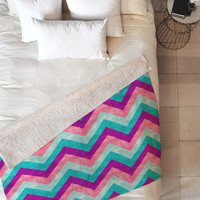 Jacqueline Maldonado Chevron Sweet Fleece Throw Blanket
