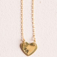 GOLD LA HEART NECKLACE