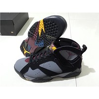 "Air Jordan 7 ""Bordeaux"" grey/black Basketball Shoes 41-47"