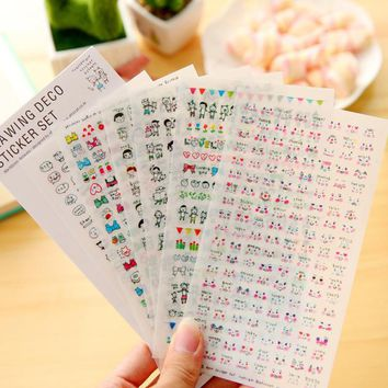 6pcs kawaii drawing pvc Transparent Organizer Calendar Diary Book Planner Sticker Scrapbook Decoration  papeleria sale