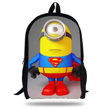16-inch Children School Backpack Mochila Minions School Bags Cute Kids Backpacks Despicable Me Printed For Boy and Girl.